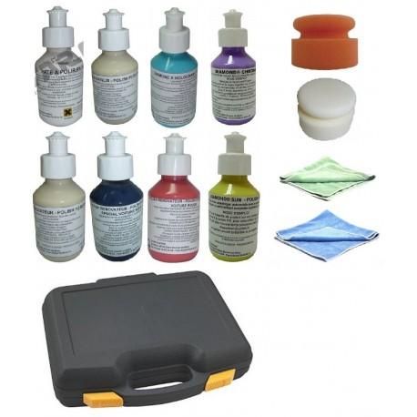 Mallette panoplie polish  pour enlever les microrayures et rnover tous types de carrosserie