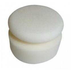 Mousse de lustrage manuelle blanche forme champignon