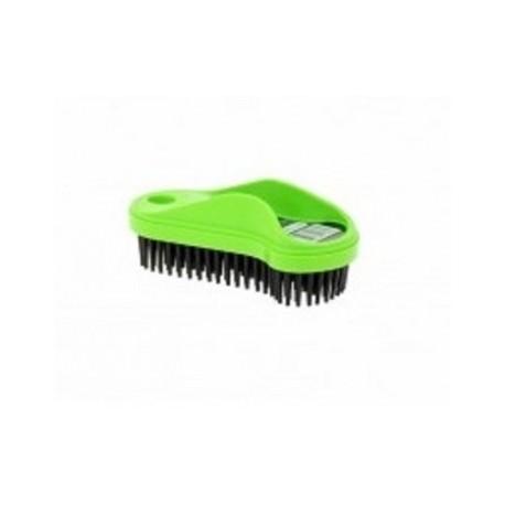 brosse caoutchouc plastique verte pour enlever les poils d 39 animaux