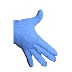 Gants nitriles BLEU : gants jetables résistants à la déchirure et à l'usure