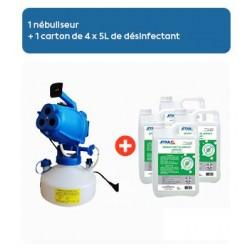 Nébuliseur électrique 3 têtes - pour pulvérisation fine en désinfection