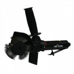 Brosseuse unostar livre dans une mallette avec une brosse et une gomme   brosseuse pneumatique
