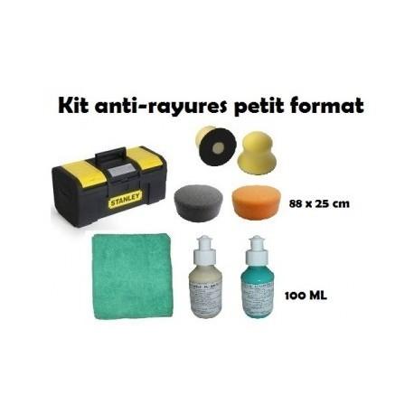 Kit antirayures petit format  pour enlever les microrayures sur la carrosserie
