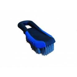 Brosse plastique bleue poils nylon   brosse moquette